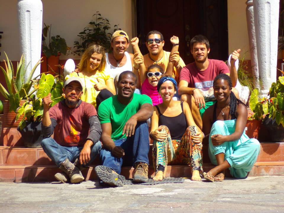 international guests at alausi hostel